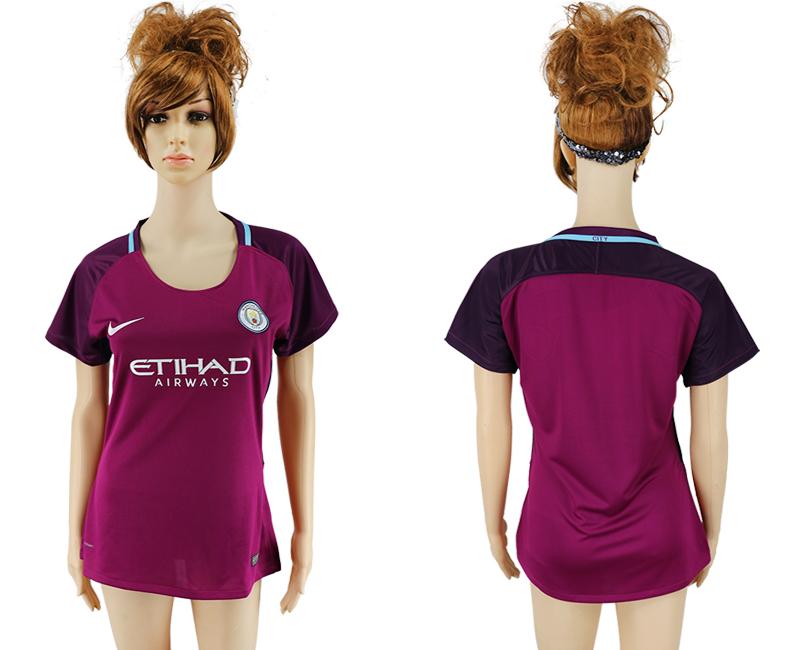 2017-18 Manchester City Away Women Soccer Jersey