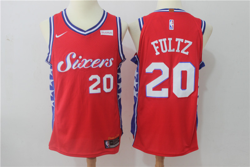 76ers 20 Markelle Fultz Red Nike Authentic Jersey