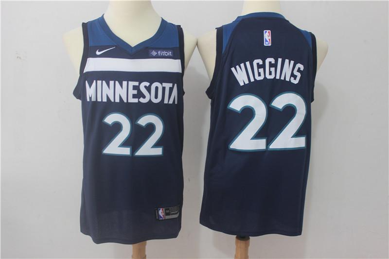 Timberwolves 22 Andrew Wiggins Navy Nike Swingman Jersey