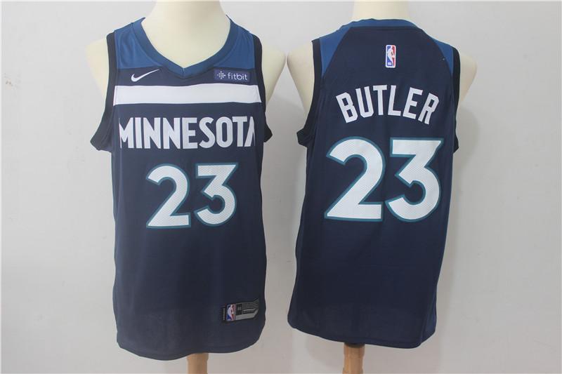 Timberwolves 23 Jimmy Butler Navy Nike Swingman Jersey