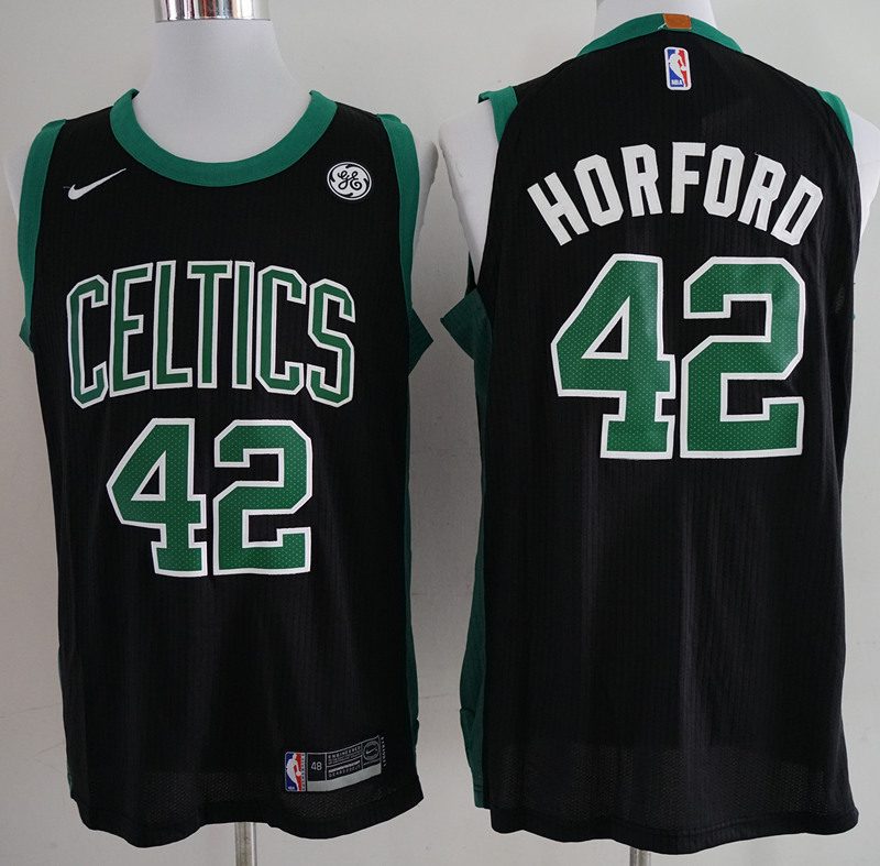 Celtics 42 Al Horford Black Nike Authentic Jersey