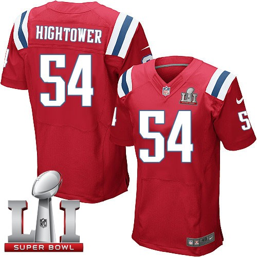 Nike Patriots 54 Dont'a Hightower Red 2017 Super Bowl LI Elite Jersey