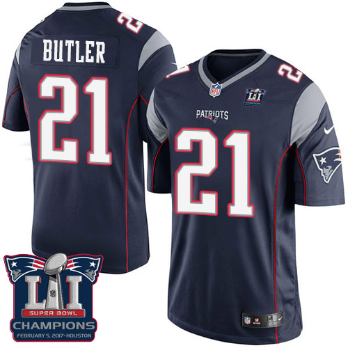 Nike Patriots 21 Malcolm Navy 2017 Super Bowl LI Champions Youth Game Jersey