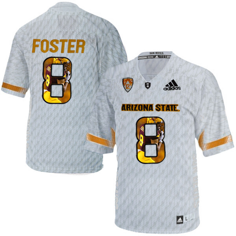 Arizona State Sun Devils 8 D.J. Foster Ice Team Logo Print College Football Jersey4