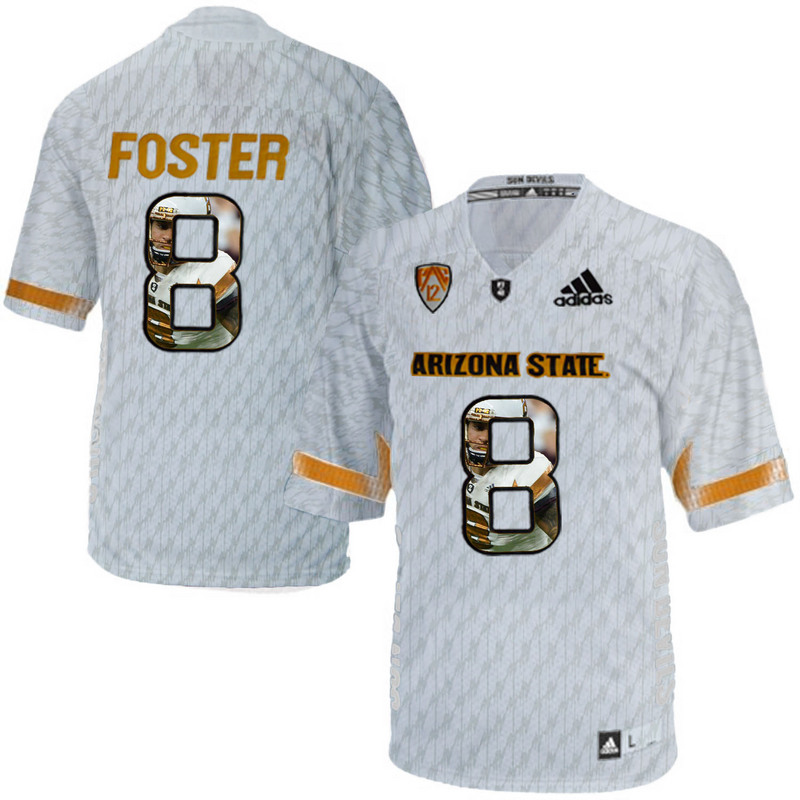 Arizona State Sun Devils 8 D.J. Foster Ice Team Logo Print College Football Jersey8