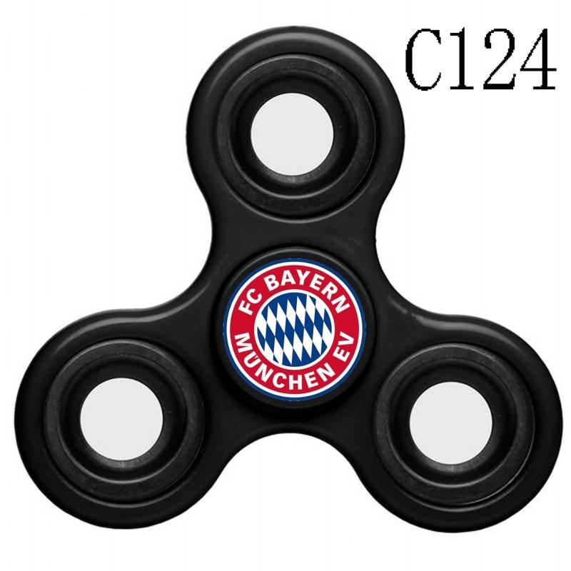 Bayern Munich Team Logo Black 3 Way Fidget Spinner