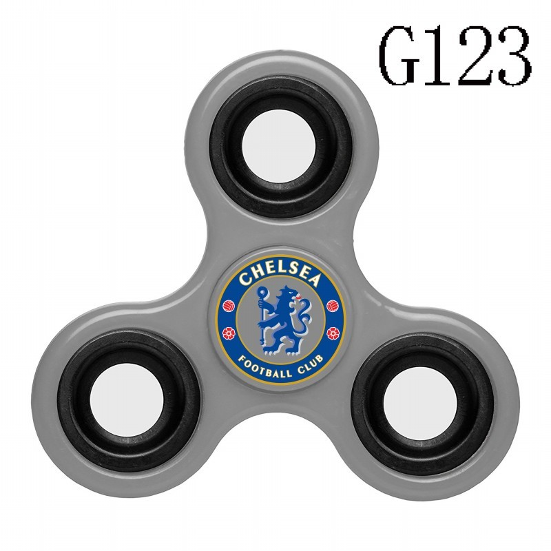 Chelsea Team Logo Gray 3 Way Fidget Spinner