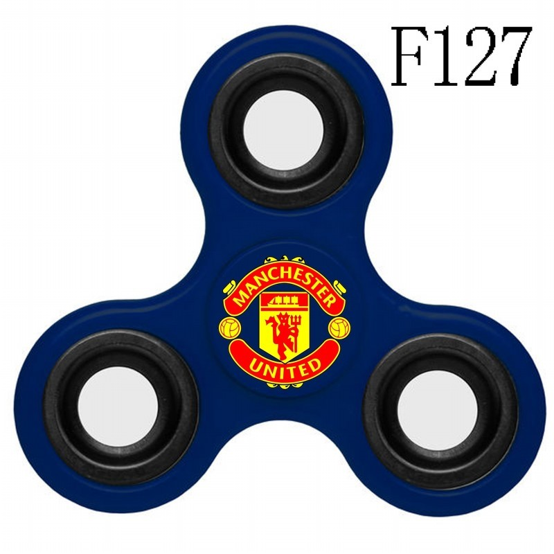 Manchester United Team Logo Blue 3 Way Fidget Spinner