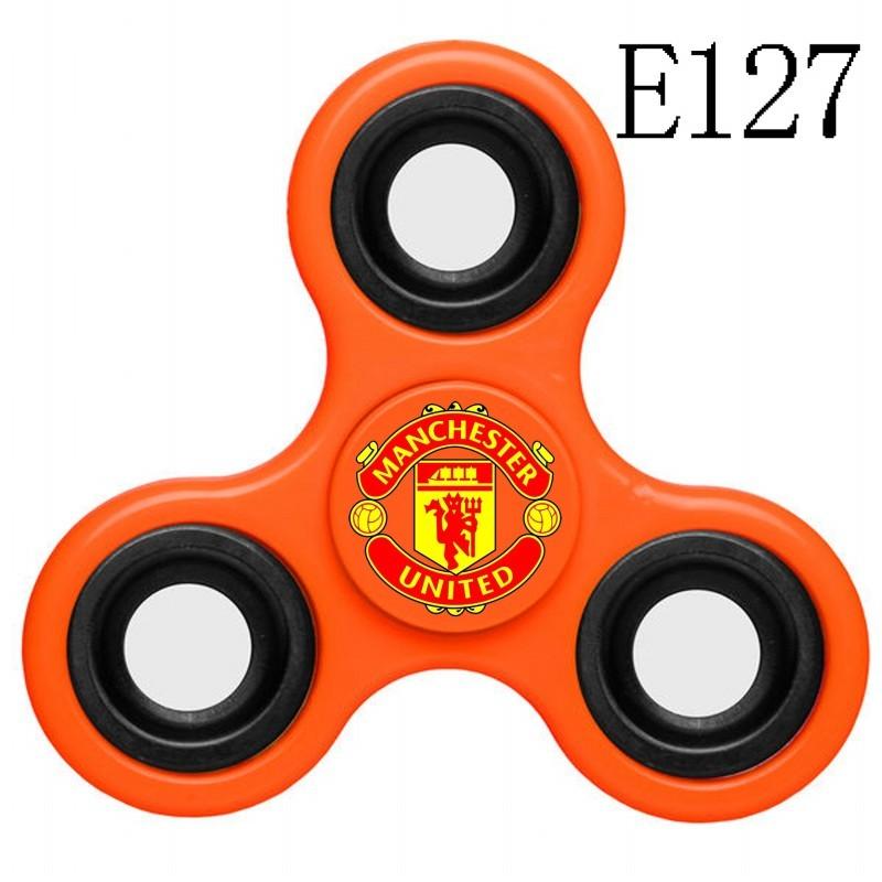 Manchester United Team Logo Orange 3 Way Fidget Spinner