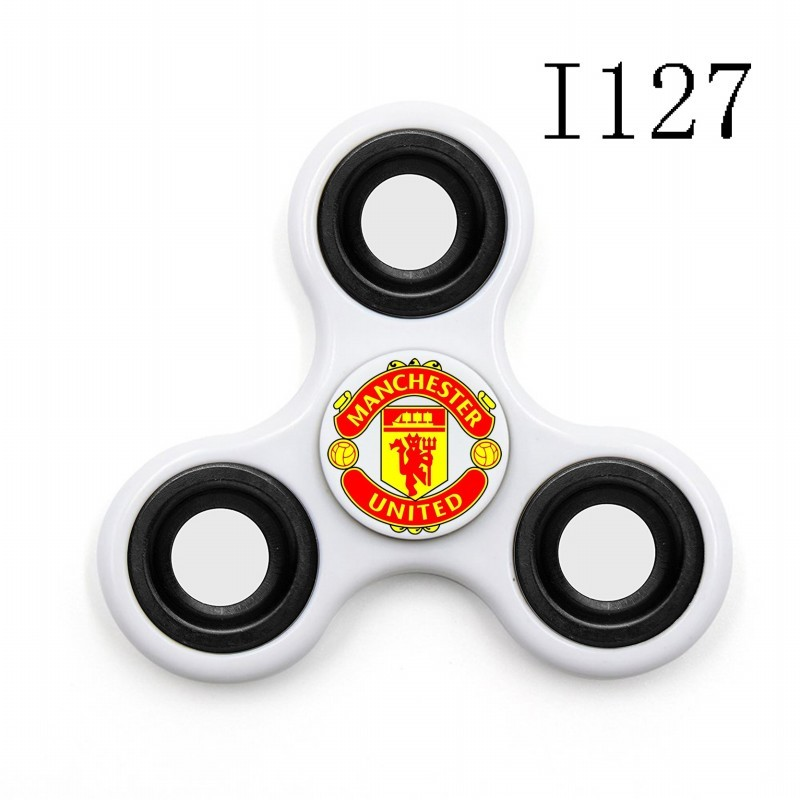 Manchester United Team Logo White 3 Way Fidget Spinner
