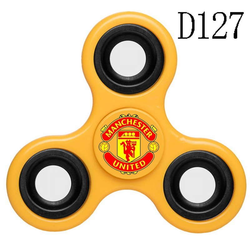 Manchester United Team Logo Yellow 3 Way Fidget Spinner