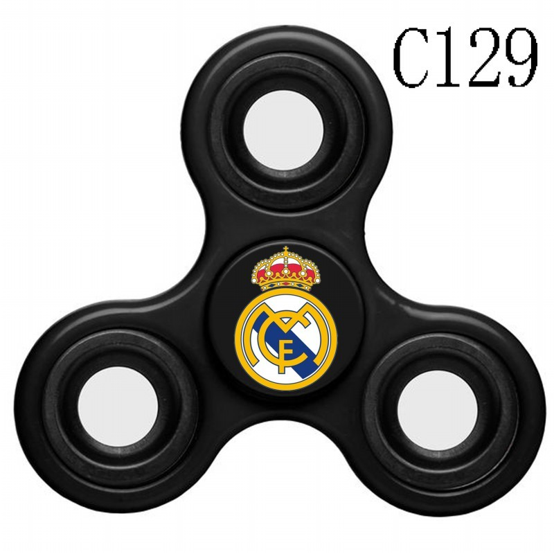 Real Madrid Team Logo Black 3 Way Fidget Spinner