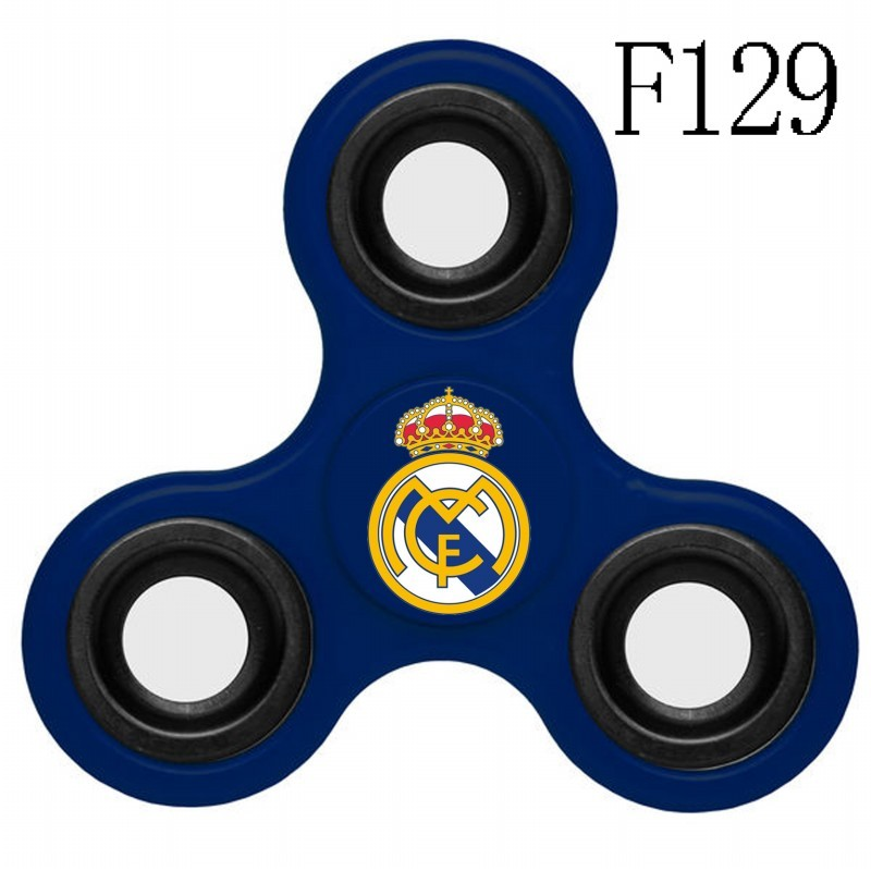 Real Madrid Team Logo Blue 3 Way Fidget Spinner
