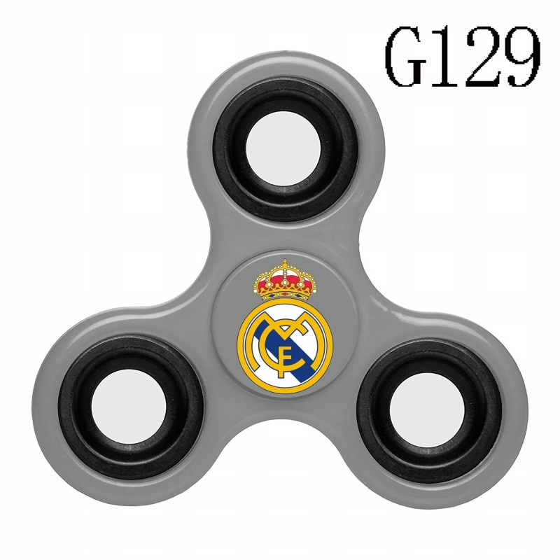 Real Madrid Team Logo Gray 3 Way Fidget Spinner