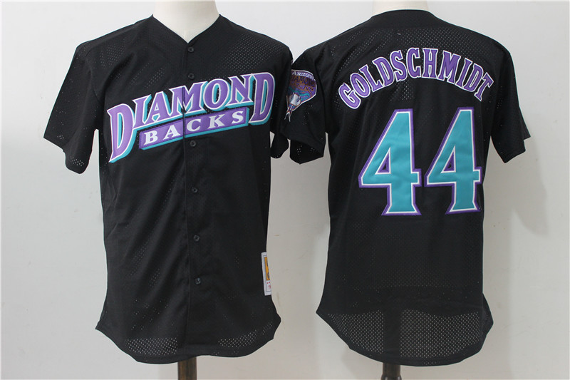 Diamondbacks 44 Paul Goldschmidt Black Cooperstown Collection Mesh Batting Practice Jersey