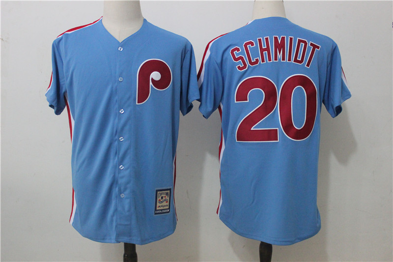 Phillies 20 Mike Schmidt Light Blue Alternate Cooperstown Collection Jersey