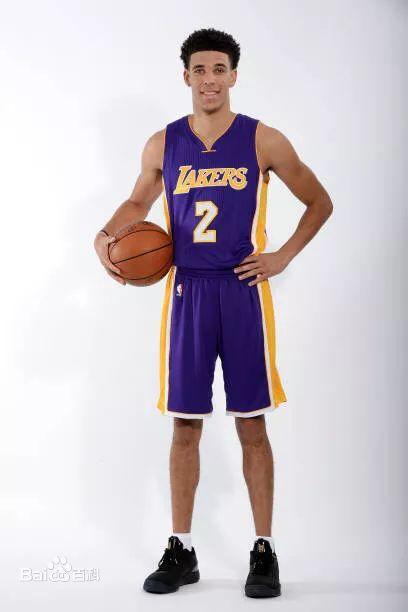 Lakers 2 Lonzo Ball Purple Swingman Jersey(With Shorts)