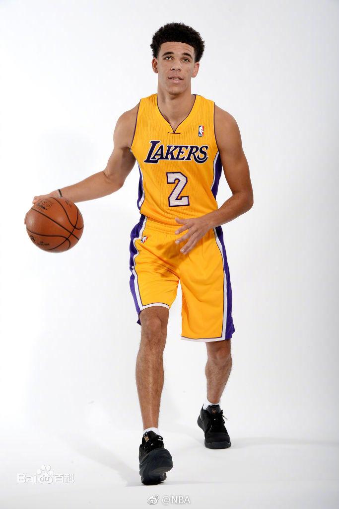 Lakers 2 Lonzo Ball Yellow Swingman Jersey(With Shorts)