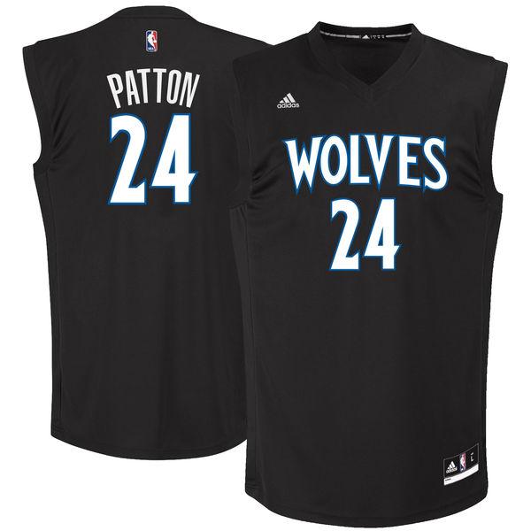 Timberwolves 24 Justin Patton Black 2017 NBA Draft #1 Pick Replica Jersey