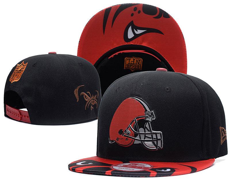 Browns Team Logo Black Adjustable Hat SG