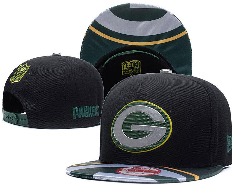 Packers Team Logo Black Adjustable Hat SG