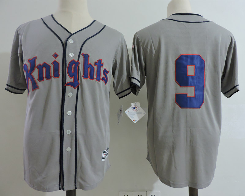 Knights #9 Gray 1839-1939 Baseball Centennial Stitched Movie Jersey