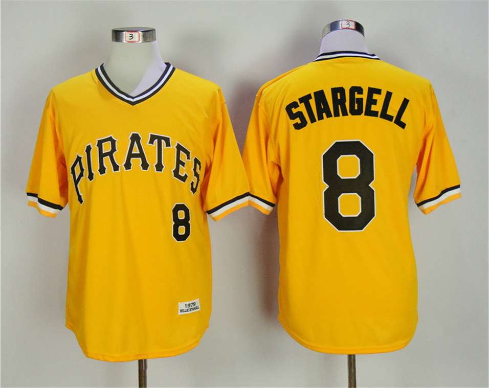 Pirates 8 Willie Stargell Yellow 1979 Throwback Jersey