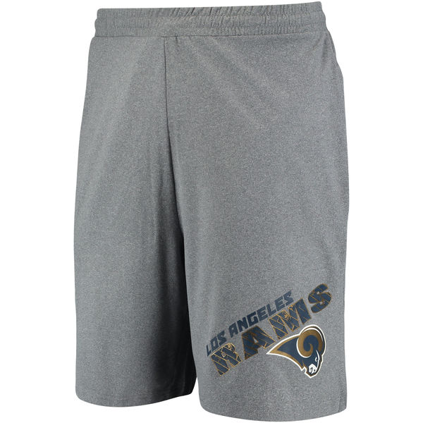 Los Angeles Rams Concepts Sport Tactic Lounge Shorts Heathered Gray