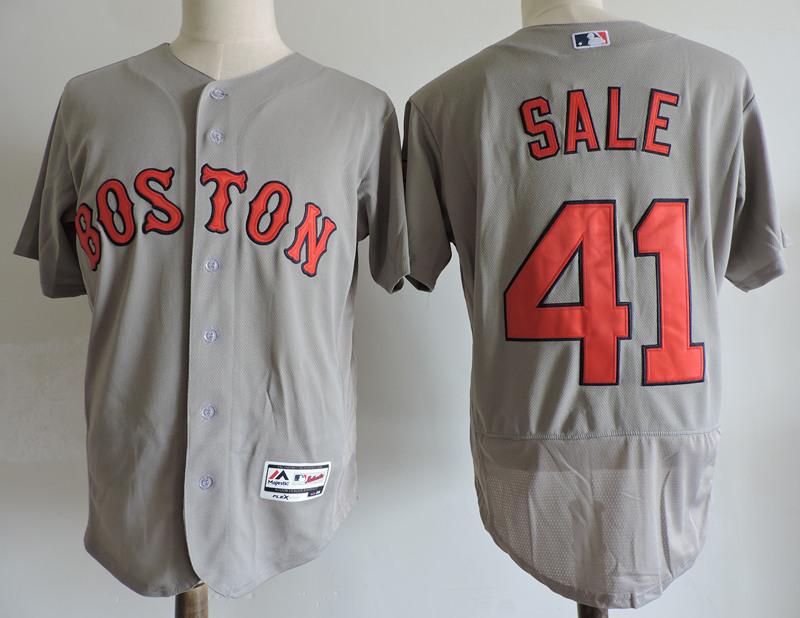 Red Sox 41 Chris Sale Gray Flexbase Jersey