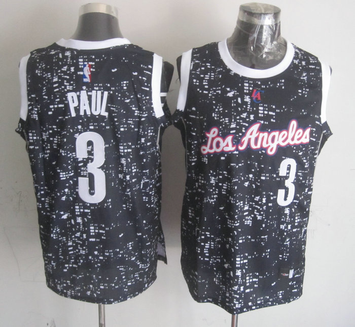 Clippers 3 Chris Paul Black City Luminous Jersey