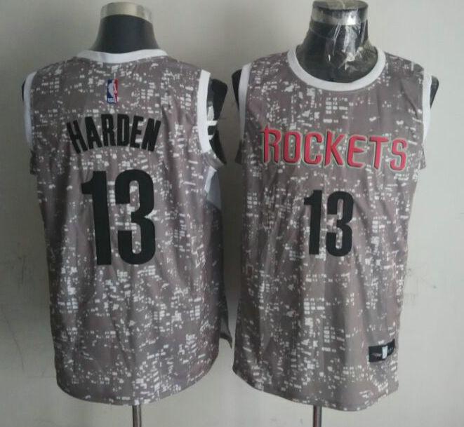 Rockets 13 James Harden Gray City Luminous Jersey