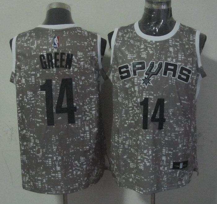 Spurs 14 Danny Green Gray City Luminous Jersey