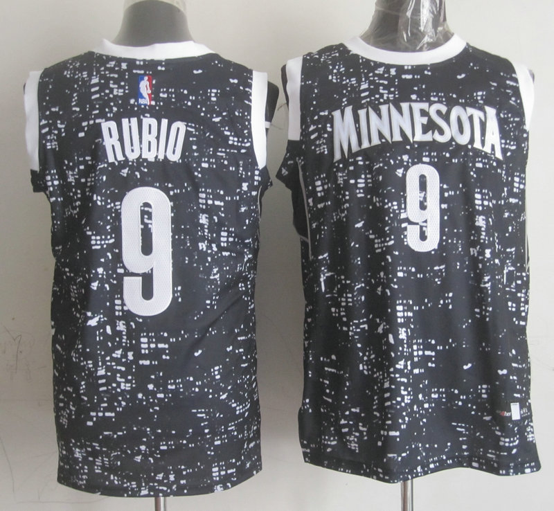 Spurs 9 Tony Parker Black City Luminous Jersey
