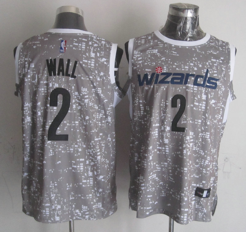 Wizards 2 John Wall Gray City Luminous Jersey