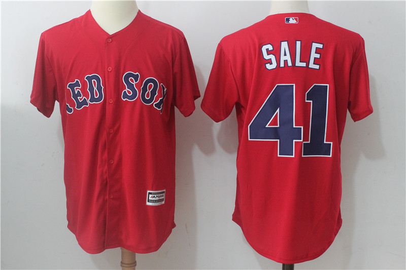 Red Sox 41 Chris Sale Red Cool Base Jersey