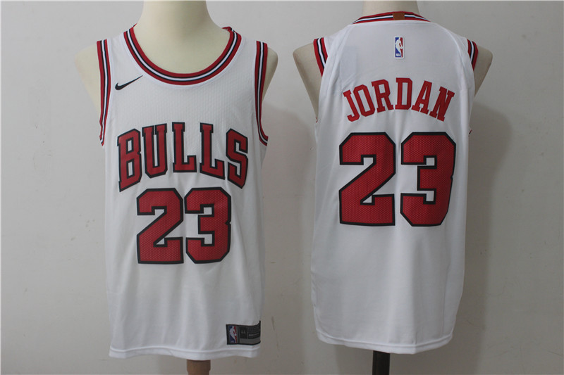 Bulls 23 Michael Jordan White Nike Authentic Jersey(Without the sponsor logo)
