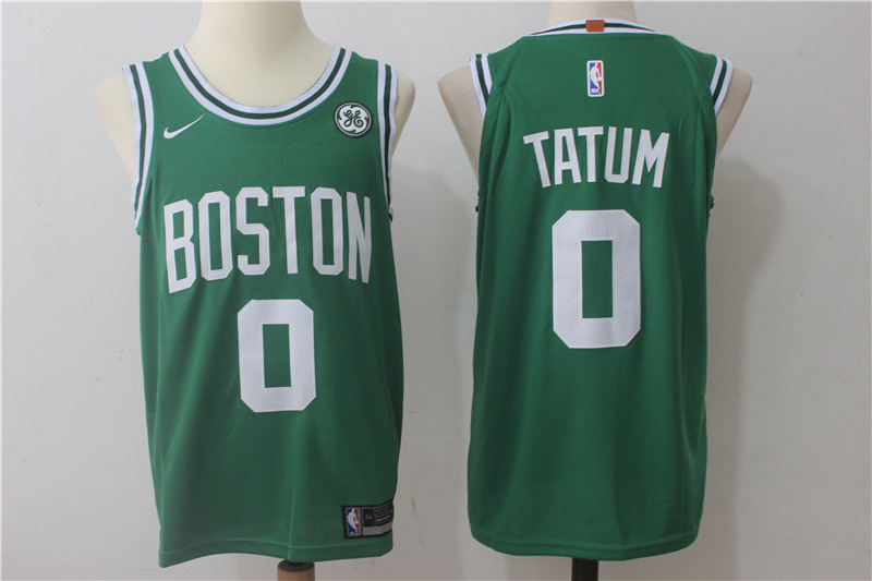 Celtics 0 Jayson Tatum Green Nike Authentic Jersey