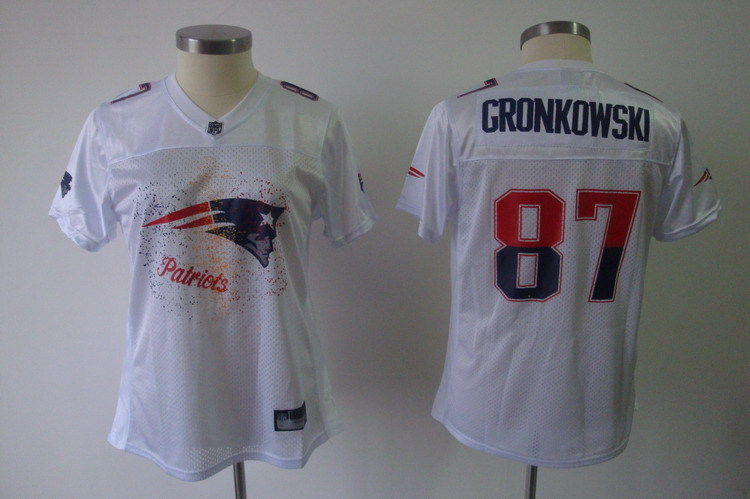 Patriots 87 Rob Gronkowski White Women 2011 Fem Fan Jersey