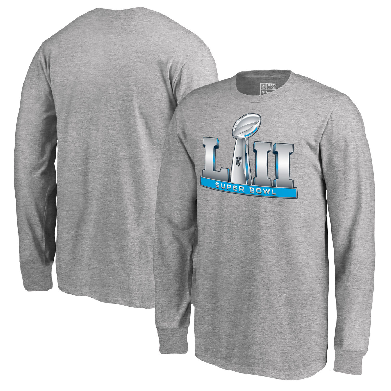 Youth NFL Pro Line by Fanatics Branded Heather Gray Super Bowl LII Event Long Sleeve T Shirt