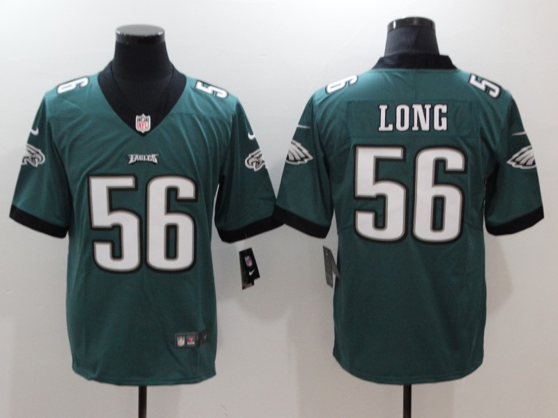 Nike Eagles 56 Chris Long Green Vapor Untouchable Player Limited Jersey