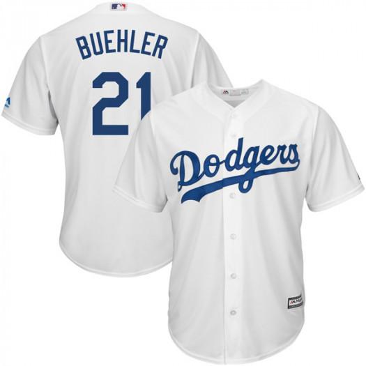 Dodgers 21 Walker Buehler White Cool Base Jersey