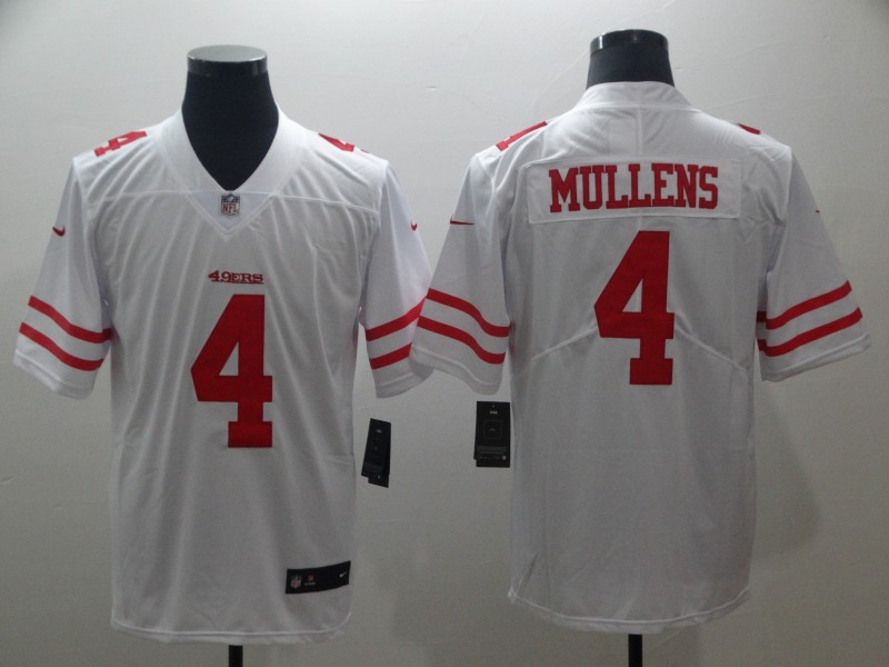 Nike 49ers 4 Nick Mullens White Vapor Untouchable Limited Jersey