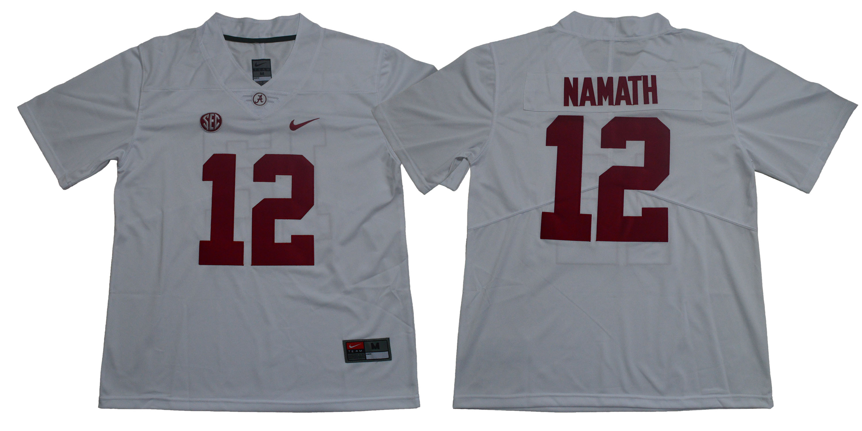 Alabama Crimson Tide 12 Joe Namath White Nike College Football Jersey