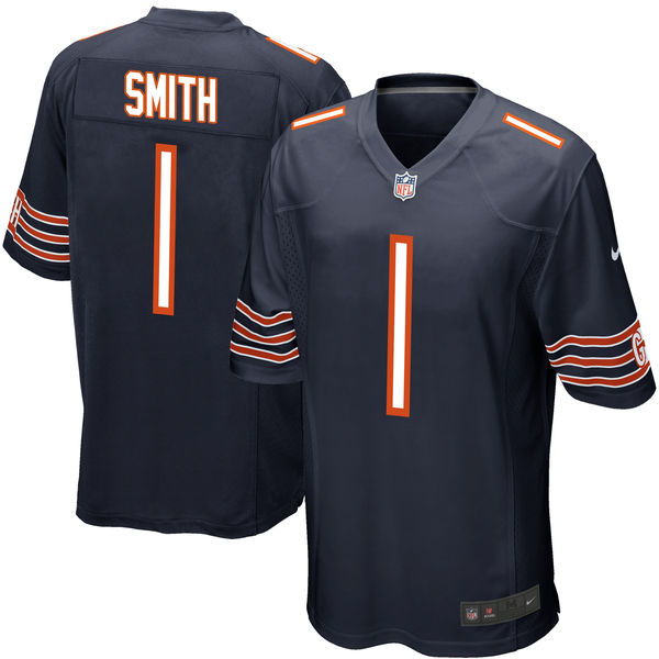 Nike Bears 1 Roquan Smith Navy 2018 NFL Draft Pick Elite Jersey