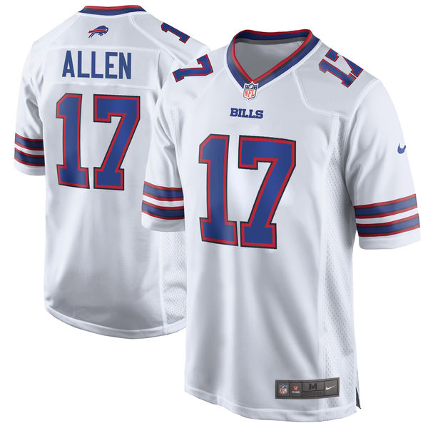 Nike Bills 17 Josh Allen White 2018 NFL Draft Pick Elite Jersey
