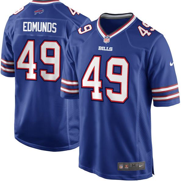 Nike Bills 49 Tremaine Edmunds Royal 2018 NFL Draft Pick Elite Jersey