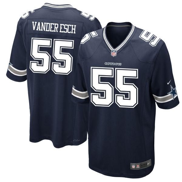 Nike Cowboys 55 Leighton Vander Esch Navy 2018 NFL Draft Pick Elite Jersey
