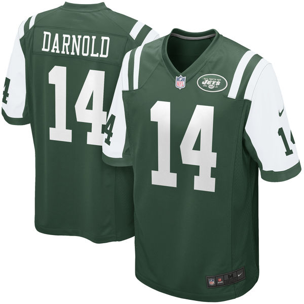 Nike Jets 14 Sam Darnold Green 2018 NFL Draft Pick Elite Jersey