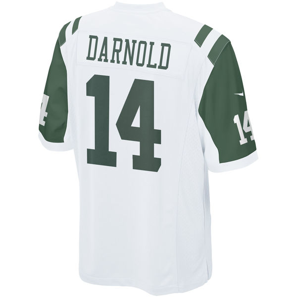 Nike Jets 14 Sam Darnold White Youth 2018 Draft Pick Game Jersey
