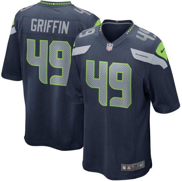 Nike Seahawks 49 Shaquem Griffin Navy Youth 2018 Draft Pick Game Jersey